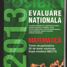 (C7950) MATEMATICA. EVALUARE NATIONALA, 2013 - Teste admitere liceu