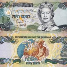 BAHAMAS 50 cents 2001 UNC!!!