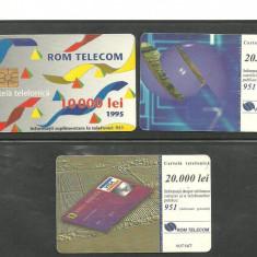 CARTELE TELEFONICE ROMANESTI DE COLECTIE, 3 BUCATI KJ421 - Cartela telefonica romaneasca