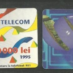 CARTELE TELEFONICE ROMANESTI DE COLECTIE, 2 BUCATI KJ422 - Cartela telefonica romaneasca