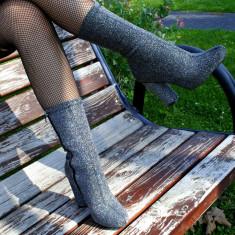 Botine dama, argintii, Ucu Dima (Culoare: Argintiu, Inaltime toc (cm): 10, Marime Incaltaminte: 40)