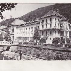 Bnk cp Slanic Moldova - Pavilionul bailor - uzata - Carte Postala Moldova dupa 1918, Circulata, Printata
