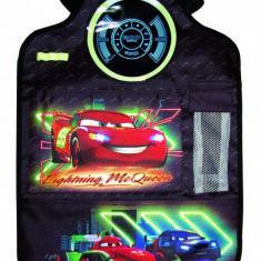 Organizator scaun auto Cars Neon pentru spatarul scaunului din fata, 40 x 60 cm