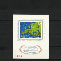 Romania MNH 1975 - colita nedantelata - CSCE Helsinki - LP 892 - Ultimele bucati - Timbre Romania, Nestampilat