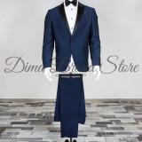Costum ceremonie, barbati, bluemarine, Slim Fit (Culoare: Bluemarin, Marime Costum: 42) - Costum barbati