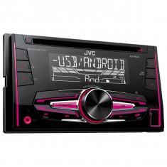 Radio CD auto JVC KW-R520, 4x50W, USB, vario color - Blu-ray player