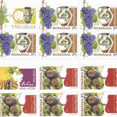 VITICULTURA 5X SERII, 2010, MNH, NEOBLITERAT, ROMANIA. - Timbre Romania, Fauna, Nestampilat