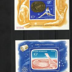 Romania - colite nedantelate - JO Montreal 1976 - LP 915 si LP 925 -Stoc limitat