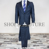 Costum Elegant Barbati, Slim Fit (Culoare: Bluemarin, Marime Costum: 56) - Costum barbati