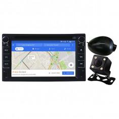 """Kit DVD player auto + Camera frontala/spate MYRIA MY2106, 4x40W, 6.2"""", GPS, Bluetooth, negru - Blu-ray player"""