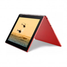 Tableta Lenovo Yoga Book YB1-X91F 10.1 inch Intel Atom X5-Z8550 1.44 GHz Quad Core 4GB RAM 128 flash WiFi GPS Windows 10 Pro Red