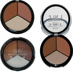 Trusă contur față – bronzer, blush & hightlighter Ushas