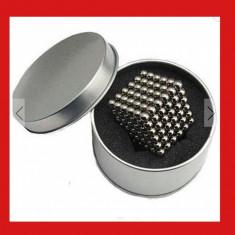 Puzzle magnetic Tesla Balls, neocube 5mm, bile magnet neodim, 216 nano, peste 14 ani, 3D, Unisex