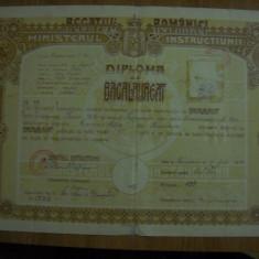 Diploma bacalaureat-1930-Timisoara - Diploma/Certificat