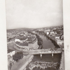 Bnk cp Oradea - Pe malul Crisului - uzata - Carte Postala Crisana dupa 1918, Circulata, Printata
