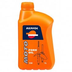 Ulei furca/amortizoare REPSOL Moto Fork Oil, 5W, 1l - Produs intretinere moto