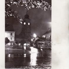 Bnk cp Sibiu - Vedere din Piata Republicii - uzata - Carte Postala Transilvania dupa 1918, Necirculata, Printata