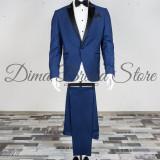 Costum ceremonie, barbati, albastru, Slim Fit (Culoare: Albastru, Marime Costum: 58) - Costum barbati