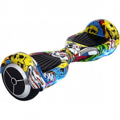 Scooter electric Junior Myria MY7008, 6.5 inch, graffiti galben - Hoverboard