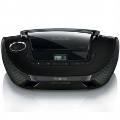 Radio CD PHILIPS AZ1837, 2W, CD, MP3, WMA, negru - Aparat radio