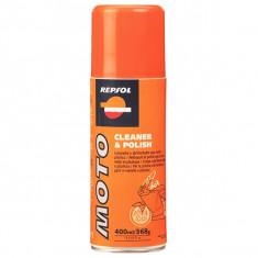 Spray curatare moto REPSOL Cleaner&Polish, 0.4l - Produs intretinere moto