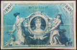 Bancnota istorica 100 Marci - GERMANIA/ BERLIN, anul 1908 *cod 642B  serie VERDE