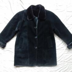Haina cu 2 fete, imita perfect blana naturala; marime XL, vezi dimensiuni exacte - haina de blana