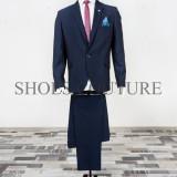 Costum Elegant Barbati, Slim Fit (Culoare: Bluemarin, Marime Costum: 50) - Costum barbati