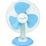 Ventilator de masa MYRIA MY4030, 40 cm, 3 viteze, 40W, alb-albastru