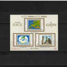 Romania MNH 1981 - colita nedantelata - CSCE Europa - LP 1043 - Timbre Romania, Nestampilat