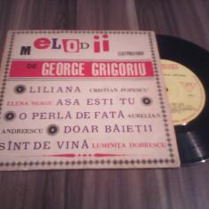DISC VINIL MELODII DE GEORGE GRIGORIU-C.POPESCU/E.NEAGU/A.ANDREESCU/E.DOBRESCU - Muzica Pop