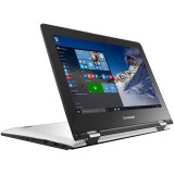 Laptop Lenovo IdeaPad Yoga 300-11IBR 11.6 inch HD Touch Intel Celeron N3060 4GB DDR3 500GB HDD Windows 10 Home White