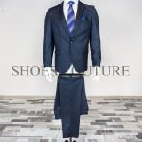 Costum Elegant Barbati, Slim Fit (Culoare: Bluemarin, Marime Costum: 46) - Costum barbati