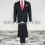 Costum Elegant Barbati, Slim Fit (Culoare: Negru, Marime Costum: 44) - Costum barbati