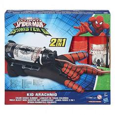 Manusa Spiderman Kid Arachnid cu Lansator panza colorata Color Shock Slinger 2in1 B5871 Hasbro - Roboti de jucarie