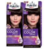 Pachet promo PALETTE Intensive Color Creme N2 Saten inchis, 2 x 110ml