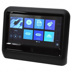 Monitor auto multimedia PNI DB900, ecran tactil de 9 inch, DVD player, slot card SD si USB, aplicabil pe tetiera, negru - Blu-ray player