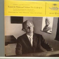 BEETHOVEN - CONCERTO PIANO no 5 (1960/DEUTSCHE GRAMMOPHONE/RFG) - VINIL/ca nou - Muzica Clasica deutsche harmonia mundi