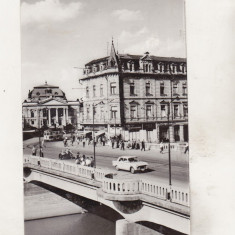 Bnk cp Oradea - Vedere spre Teatrul de Stat - uzata - Carte Postala Crisana dupa 1918, Circulata, Printata