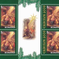 CRACIUN, 2009, BLOC, MNH, NEOBLITERAT, ROMANIA. - Timbre Romania, Religie, Nestampilat