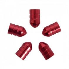 Set capacele auto Carpoint pentru ventil tip glont culoare Rosu, 5 buc.