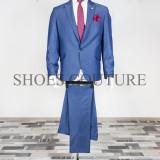 Costum Elegant Barbati, Slim Fit (Culoare: Bluemarin, Marime Costum: 48) - Costum barbati