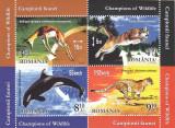 CAMPIONII FAUNEI ,2015 ,BLOC,MNH,NEOBLITERAT,ROMANIA., Fauna, Nestampilat