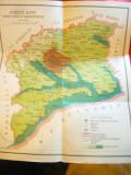 Harta Judetului Ilfov - Economica si  verso -administrativa , dim.= 21x30 cm