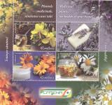 PLANTE MEDICINALE ,2015,BLOC,MNH,NEOBLITERAT,ROMANIA., Flora, Nestampilat