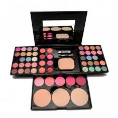 Trusă de machiaj 54 culori cu ruj, blush și pudră Flowers - Trusa make up
