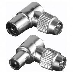 Set 2 mufe conexiune coaxial HAMA 122481 - Adaptor