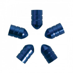 Set capacele auto Carpoint pentru ventil tip glont culoare Albastru, 5 buc.