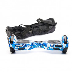 Scooter electric FREEWHEEL F1 Complete, 6.5 inch, camuflaj blue + husa cadou - Hoverboard