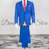 Costum elegant, barbati, Slim Fit (Culoare: Albastru, Marime Costum: 46) - Costum barbati